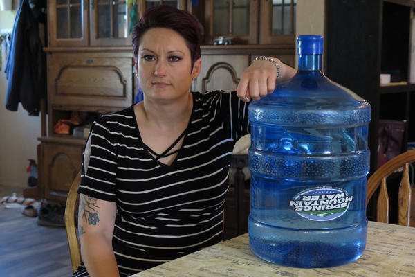 El Paso County, Col. resident Liz Rosenbaum spends about 70 dollars per month on bottled drinking water rather than drink from her tap.