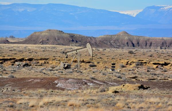 Oil well in the West