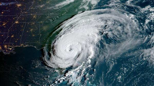 Hurricane Dorian's outer bands are lashing Florida as the storm moves northward along the U.S. coastline.