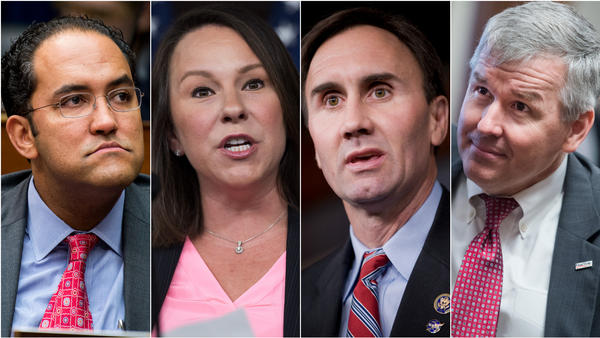 Ahead of the 2020 elections, more than two dozen Republican House members have said they will not seek reelection, including (from left) Republican Reps. Will Hurd of Texas, Martha Roby of Alabama, Pete Olson of Texas and Rob Woodall of Georgia.
