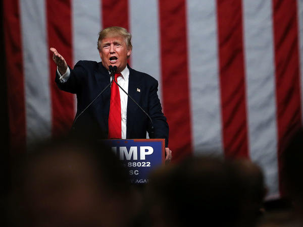 Donald Trump speaks to South Carolina voters on the eve of the state's primary on Feb. 19, 2016. The state's Republican Party will not hold a primary in 2020.