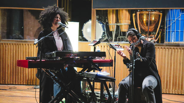 Ibeyi performs live in Paris for <em>World Cafe. </em>