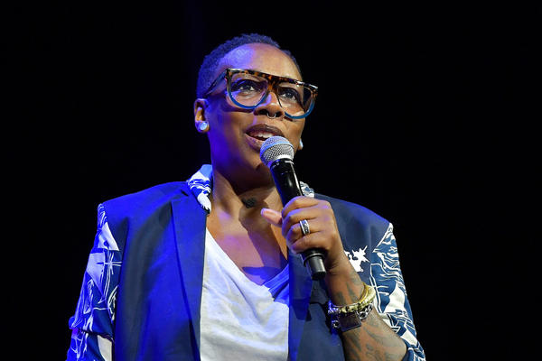 """Gina Yashere is a co-creator of the new CBS sitcom <a href=""""https://www.cbs.com/shows/bob-hearts-abishola/"""" data-key=""""2722""""><em>Bob Hearts Abishola</em></a>. She speaks above at the 2018 Tribeca Film Festival in New York City."""