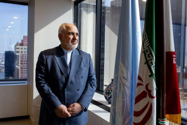 Iran's foreign minister, Mohammad Javad Zarif, is in New York this week to make the case for lifting sanctions on his country.