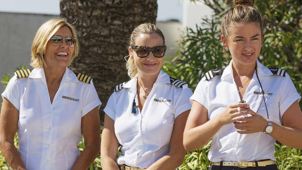 Captain Sandy Yawn, Hannah Ferrier, and Aesha Scott are part of the cast of the fourth season of <em>Below Deck Mediterranean.</em>