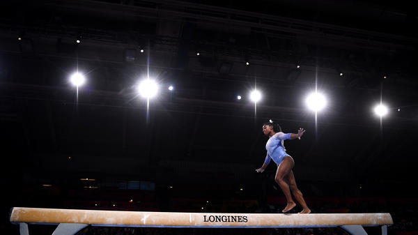 Simone Biles has two more signature moves named for her after she nailed them during performances at the world championships.