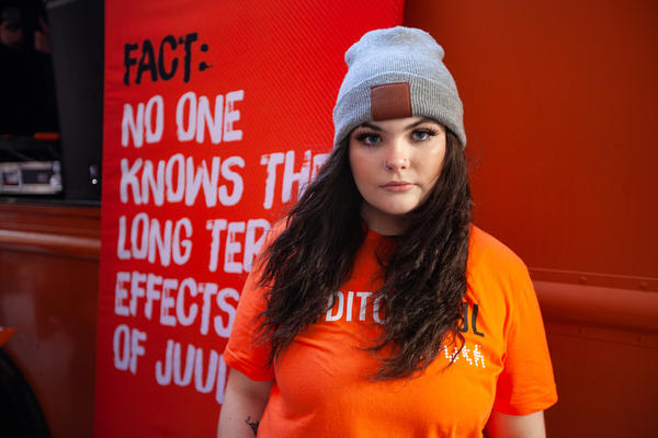 Piper Johnson used to vape regularly in high school. After surviving vaping-related lung illness, she's now working to raise awareness of the risks of the habit.