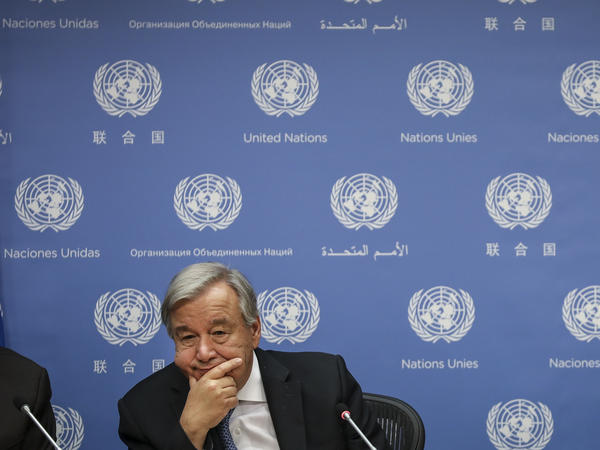 United Nations Secretary-General António Guterres warned of an impending budget crisis if member states don't pay their 2019 dues quickly. Guterres is seen here last month in New York City.
