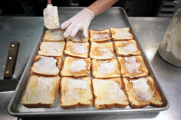 Texas toast, the giant buttered slab of grilled bread, is on menus across the state and across the country.
