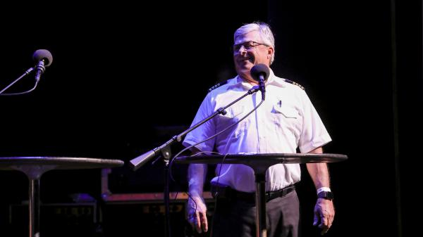 Captain Fred Hershman reveals the origins of Lil' Toot on <em>Ask Me Another</em> at the Lobero Theatre in Santa Barbara, California.