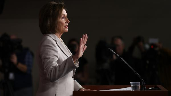 House Speaker Nancy Pelosi announced on Monday that the House will vote to formalize its impeachment inquiry into President Trump. Above, she speaks to reporters earlier this month.