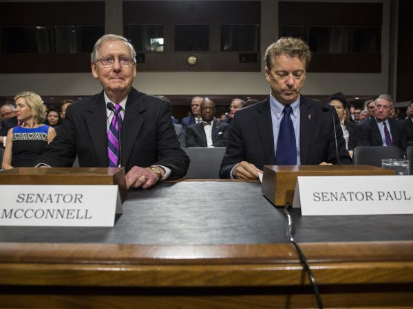 Prosecutors say Senate Majority Leader Mitch McConnell and Sen. Rand Paul, both Kentucky Republicans, were targeted in a doxxing scheme in which a former Senate staffer hacked into government computers to expose the personal information of lawmakers.