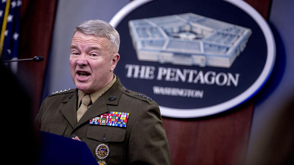 Central Command Commander Gen. Frank McKenzie speaks to reporters Wednesday at the Defense Department about the death of ISIS leader Abu Bakr al-Baghdadi during a U.S. raid in Syria.