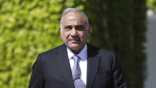 Iraqi Prime Minister Adil Abdul-Mahdi, seen earlier this year during a diplomatic visit to Berlin, has faced massive protests recently calling for his resignation.