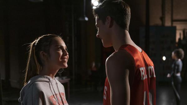 Olivia Rodrigo and Matt Cornett in <em>High School Musical: The Musical: The Series</em>.