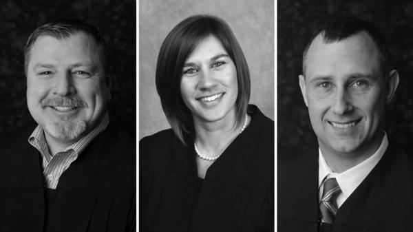 Judges Andrew Adams, Sabrina Bell and Bradley Jacobs were censured by the Indiana Supreme Court for their roles in a brawl outside a White Castle in May.
