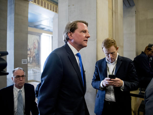 On Monday, a federal judge ruled that former White House counsel Don McGahn must testify to House lawmakers who have subpoenaed him, in the face of White House orders that McGahn not comply. Above, McGahn arrives for an event at the Justice Department in May.