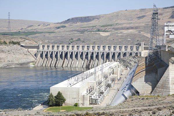 Chief Joseph Dam is on the Columbia River in eastern Washington at Bridgeport.