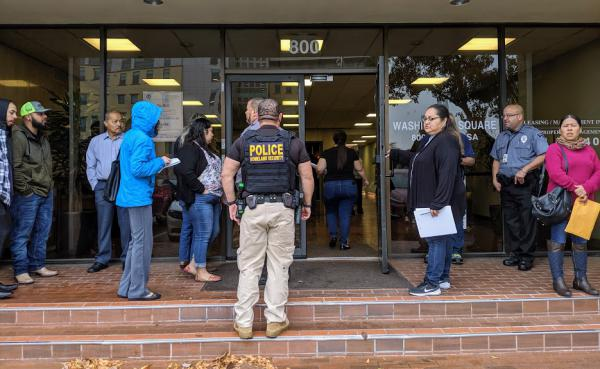 More than 100 migrants showed up at immigration court in downtown San Antonio on Black Friday to discover their court dates had been postponed until 2021.