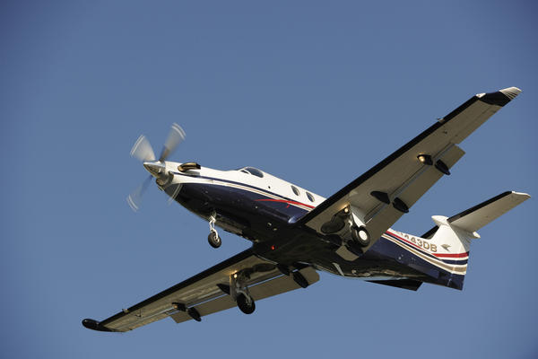 A Pilatus PC-12, the same type of plane that crashed near Chamberlain, S.D., on Sunday.