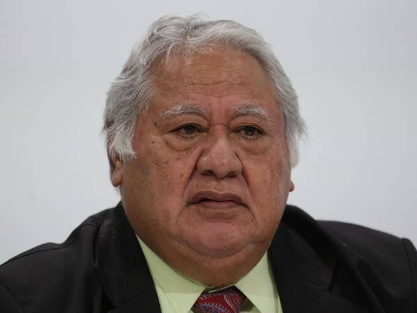 "Samoa's Prime Minister Tuilaepa Sailele Malielegaoi, pictured in 2018, pleaded with the public not to turn to ""alternative cures"" for measles."