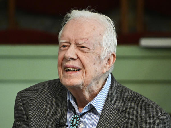 Former President Jimmy Carter was admitted to the hospital over the weekend to treat a urinary tract infection, according to the Carter Center.