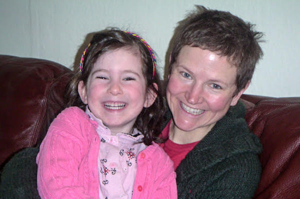 Sylvia Grosvold with her mom, Kari Grosvold, in March 2008.