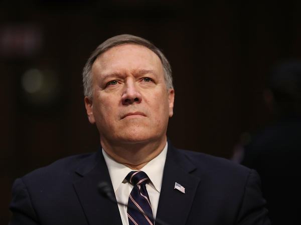 Mike Pompeo attends his confirmation hearing to become CIA director on Jan. 12, 2017. Since becoming secretary of state in 2018, he has emerged as one of President Trump's most influential advisers.