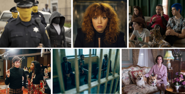 Clockwise: <em>Watchmen</em>, <em>Russian Doll, Los Espookys, The Crown, When They See Us</em> <em></em>and <em>Documentary Now! </em>made NPR critics' list of the best television of 2019.