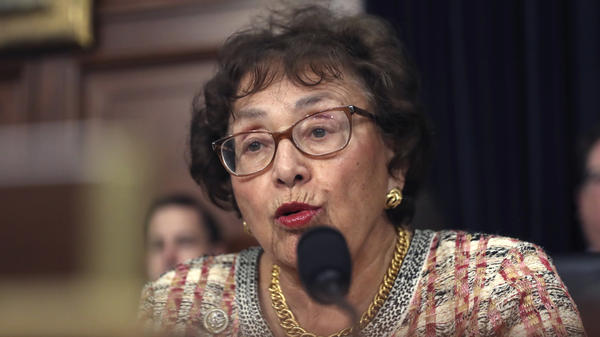 "Congressional negotiators have reached tentative agreement on a $1.3 trillion spending package to fund the government through the end of September 2020. ""I think we can be very proud of the good work that this Congress is doing,"" Rep. Nita Lowey, seen here in April, said Thursday."