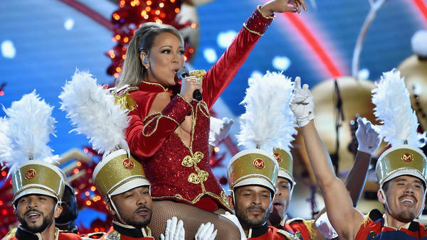 Mariah Carey performs onstage during 2016 VH1's Divas Holiday: Unsilent Night at Kings Theatre on December 2, 2016 in New York.