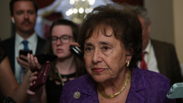 """These are really good bills,"" House Appropriations Committee Chairwoman Nita Lowey, D-N.Y., seen here in June, said last Thursday. Republican lawmakers are also touting wins."