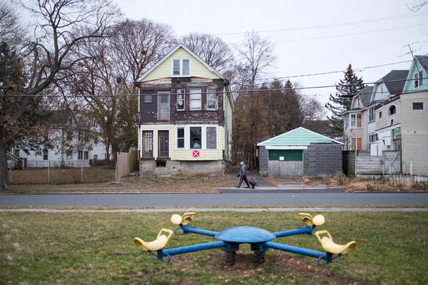 Vacant homes marked as unsafe structures in the West Hill neighborhood of Albany, N.Y. New data from the Institute for Child, Youth and Family Policy at Brandeis University reveal a sharp racial divide in access to opportunities in almost every major metropolitan area of the country, including Albany.
