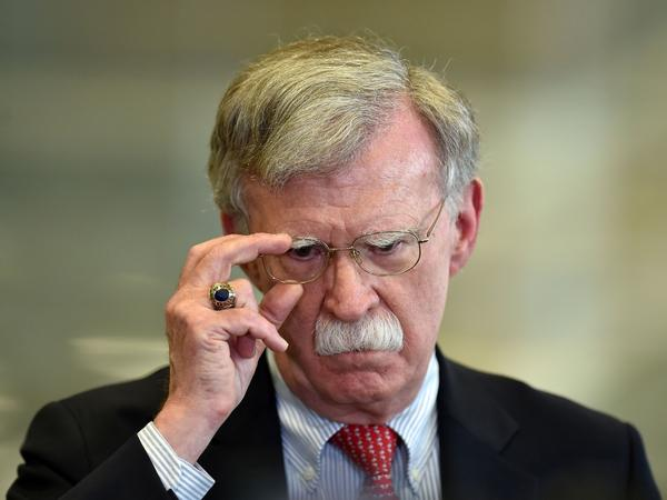 John Bolton after a meeting in Minsk, Belarus, in late August, nearly two weeks before his ouster as President Trump's national security adviser.