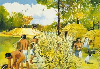 Woodland Period Village Mural