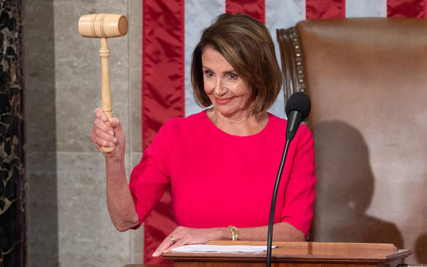 House Speaker Nancy Pelosi holds her gavel after being elected during the beginning of the 116th Congress. A lot of Pelosi's decisions have come to define 2019.