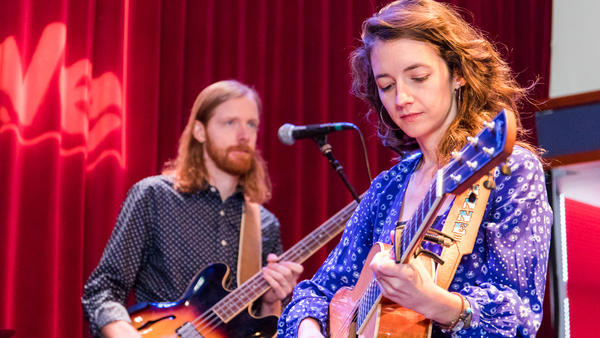 Michaela Anne performing at WXPN's Free At Noon Concert, recorded live for <em>World Cafe.</em>