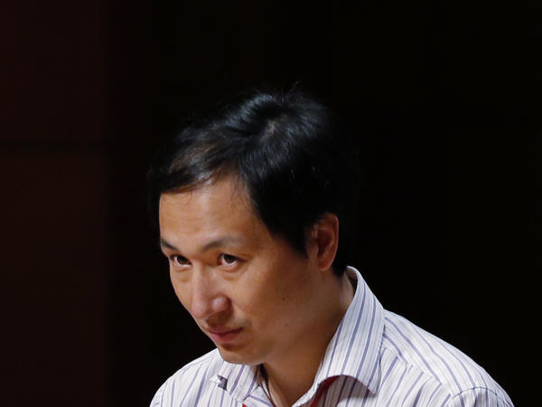 He Jiankui, a Chinese researcher shown here at a conference last year in Hong Kong, has been sentenced to three years in prison.