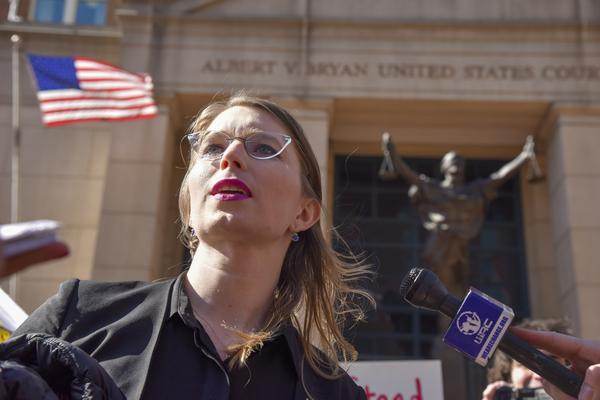 Chelsea Manning leaves the Albert V. Bryan U.S. District Courthouse in northern Virginia in March. A top official with the United Nations says that her punishment for refusing to testify amounts to torture.