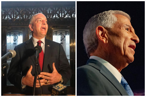 John Bel Edwards (left) will face off against Eddie Rispone (right) are the two candidates for Louisiana Governor in Nov. 16 runoff.