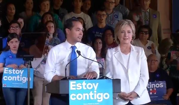 Castro with Hillary Clinton