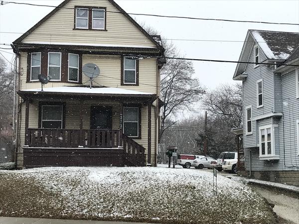 Jack Neiman from Exchange Builders LLC is working to evict a tenant from this home at 373 W. Exchange St. in Akron.