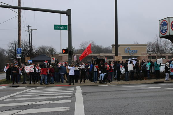 Some of the protestors in Columbus