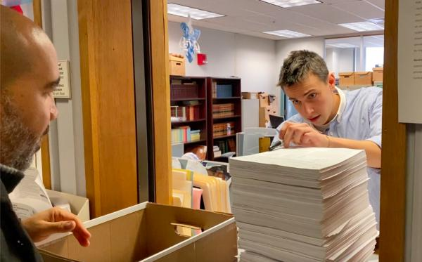 Backers of a ballot initiative aiming to bring ranked-choice voting to Massachusetts deliver signatures to the state Secretary of State's office. (Courtesy)