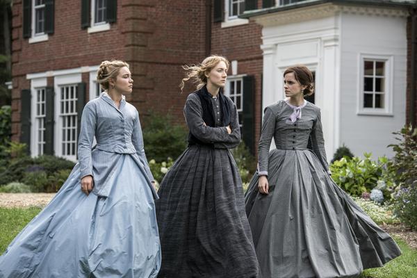 "Florence Pugh, Saiorse Ronan and Emma Watson (L-R) all star in Greta Gerwig's ""LIttle Women."""