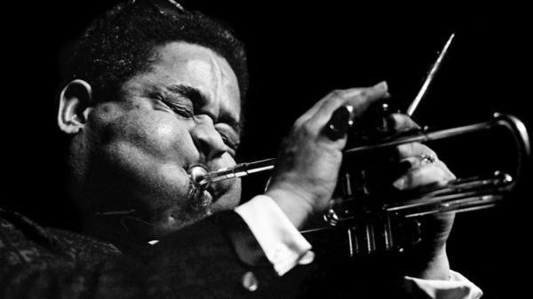 Jazz trumpeter Dizzy Gillespie performs at the Boston Globe Jazz and Blues Festival on Jan. 15, 1966.