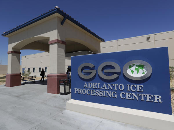 The Adelanto ICE Processing Center in Adelanto, Calif., can currently house nearly 2,000 immigrant detainees, though it is set to expand under a new contract with the federal government.