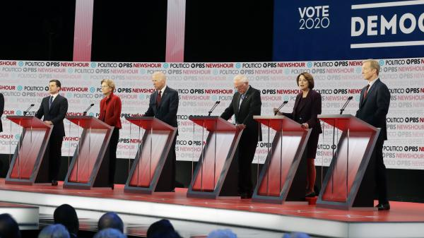 Six candidates have qualified for next Tuesday's Democratic debate: former South Bend, Ind., Mayor Pete Buttigieg, Massachusetts Sen. Elizabeth Warren, former Vice President Joe Biden, Vermont Sen. Bernie Sanders, Minnesota Sen. Amy Klobuchar and businessman Tom Steyer.