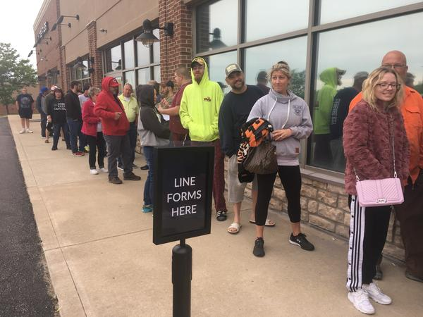 Even an hour before About Wellness Ohio opened in Lebanon, there was a line.