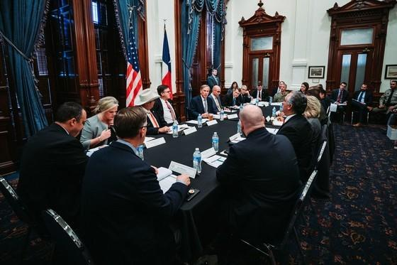 Texas Governor Greg Abbott held a roundtable with the state's Domestic Terrorism Task Force this week in Austin. The group was created in response to last year's mass shooting at a Walmart in El Paso.